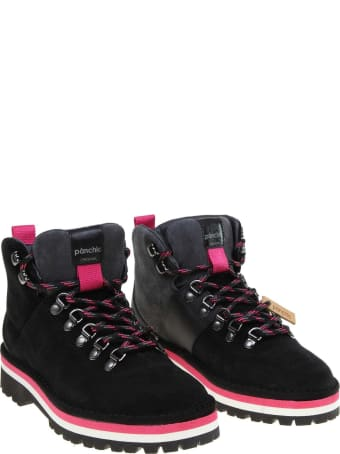 Panchic Boot In Suede Color Black