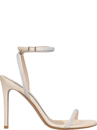 Alexandre Vauthier Sandals In Platinum Leather