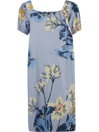 Antonio Marras Floral Print Mid-length Dress
