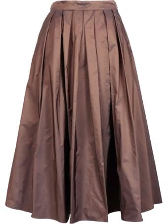Malìparmi Side Zip Flared Skirt