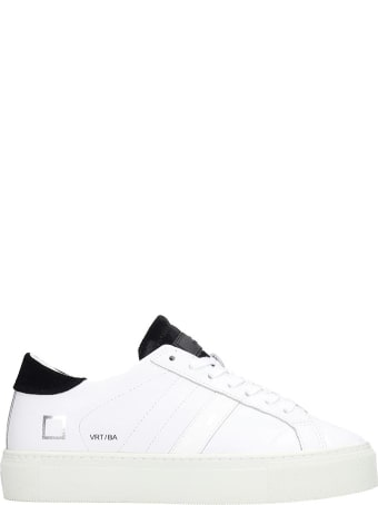 D.A.T.E. Vertigo Sneakers In White Leather