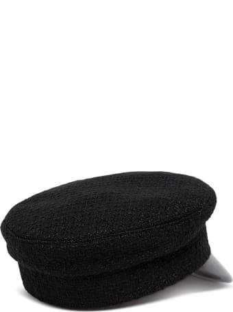 Ruslan Baginskiy Monogram-embroidered Black Baker Boy Cap