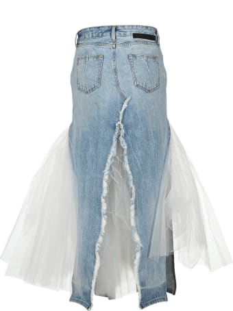 Ben Taverniti Unravel Project Unravel Distressed Tulle Long Skirt
