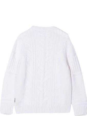 Stone Island Junior White Sweater