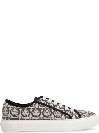 Salvatore Ferragamo Canvas Sneakers