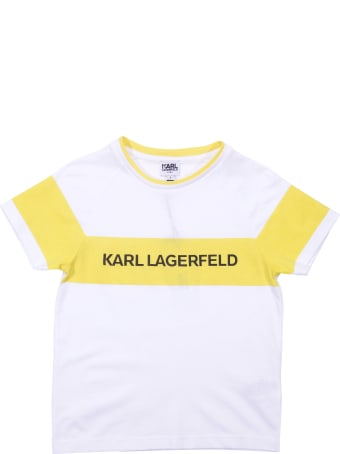 Karl Lagerfeld Color Block Cotton Jersey T-shirt