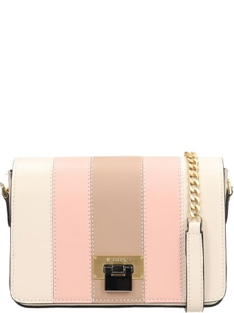 Visone Beige And Pink Leather Nicole Small Bag