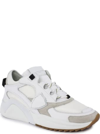 Philippe Model White Leather Eze Sneakers