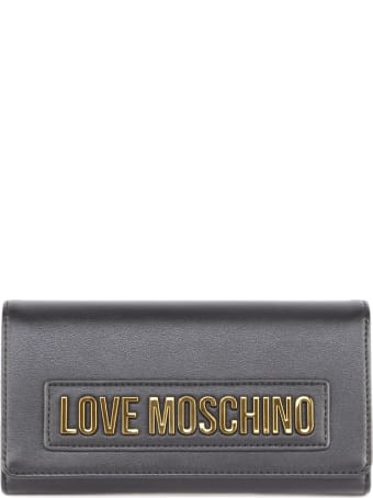Love Moschino Black Eco Leather Wallet