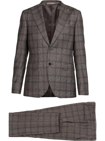 Paoloni Checked Wool Suit