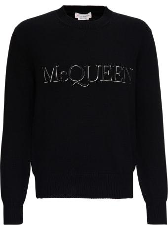Alexander McQueen Cotton Sweater With Logo