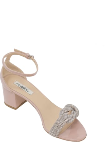 Ninalilou Wendy Nude Patent Sandals