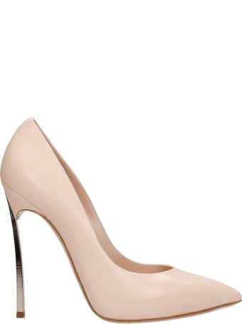 Casadei Pumps In Powder Leather