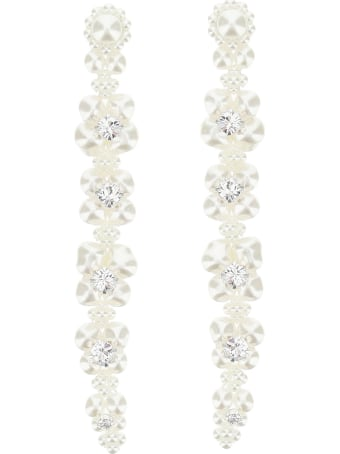 Simone Rocha Cluster Drip Pearl Crystal Earrings