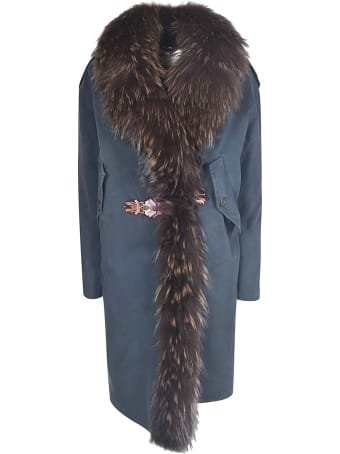 Bazar Deluxe Furry Detail Coat