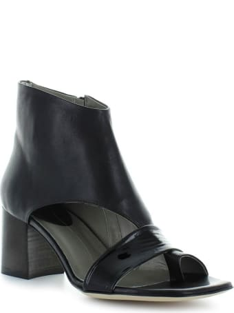 IXOS Black Thong Heeled Sandal