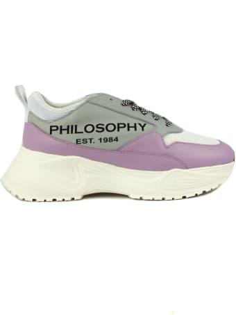 Philosophy di Lorenzo Serafini Grey And Pink Sneakers