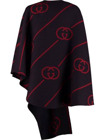 Gucci Asymmetric Wool Cape