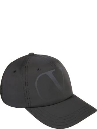 Valentino Garavani Logo Print Baseball Cap