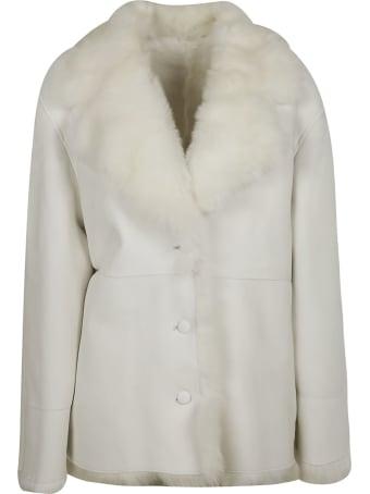 Alberta Ferretti Fur Applique Blazer