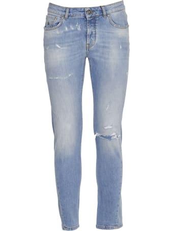 John Richmond Distressed Light Blue Jeans