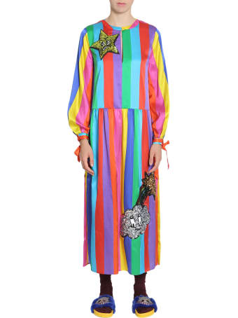 Mira Mikati Silk Blend Rainbow Dress
