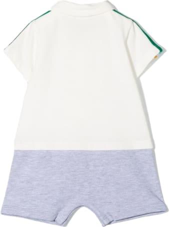 Fendi White And Grey Cotton Romper