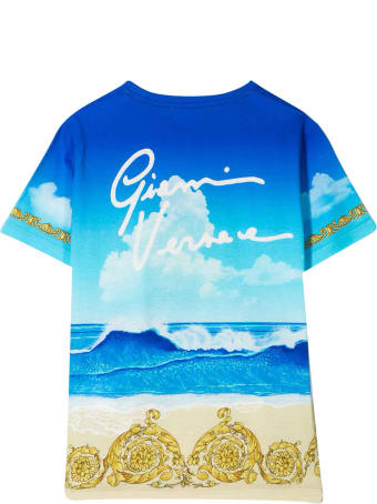 Versace T-shirt With Multicolor Print