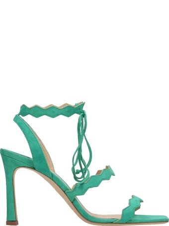 The Seller Green Suede Sandals