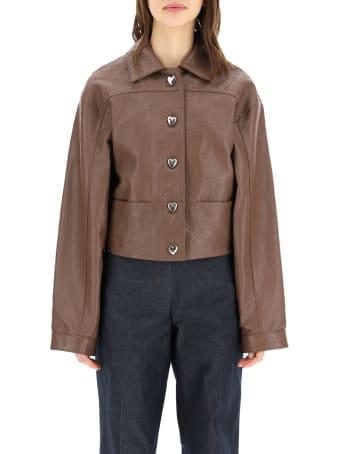 Saks Potts Perla Jacket In Monogram Leather
