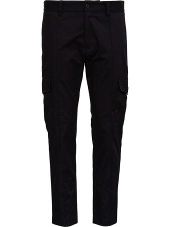 Dolce & Gabbana Black Jersey Cargo Pants
