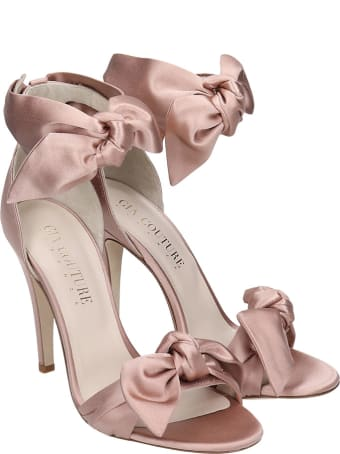 GIA COUTURE Sandals In Powder Satin