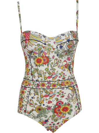 Tory Burch Printed Underwire One-piece