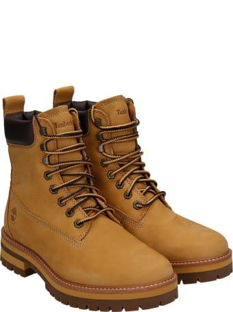 Timberland Courma Guy Combat Boots In Yellow Nubuck
