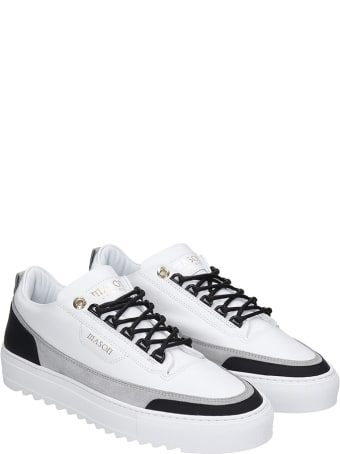 Mason Garments Firenze Sneakers In White Suede And Leather