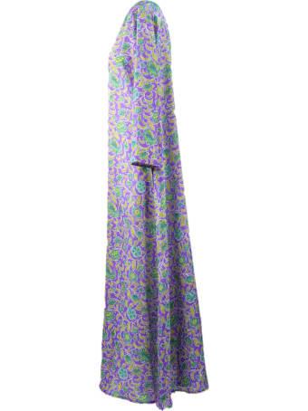 Fisico - Cristina Ferrari Purple Silk Kaftan