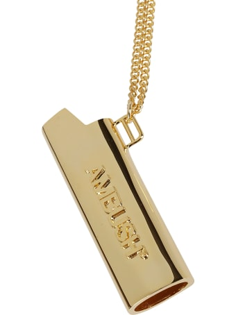AMBUSH Gold-tone Brass Lighter Case Necklace