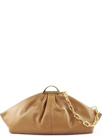 the VOLON Brown Leather Gabi Clutch Bag