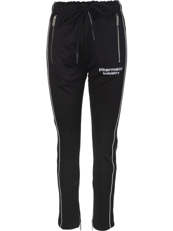 Pharmacy Industry Black Slim Fit Woman Joggers With Logo