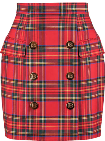 Balmain Wool Wrap Skirt
