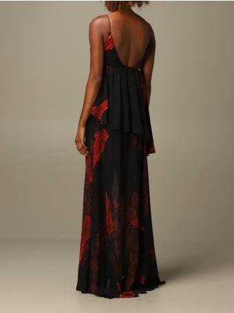 Just Cavalli Dress Just Cavalli Long Dress With Rose Pattern