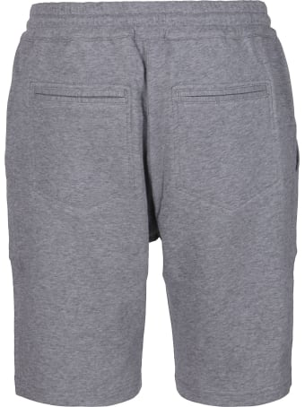 Brunello Cucinelli Grey Cotton Track Shorts