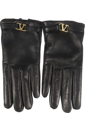 Valentino Logo Gloves