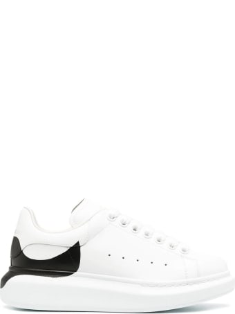 Alexander McQueen Woman White Oversize Sneakers With Black Print On The Heel