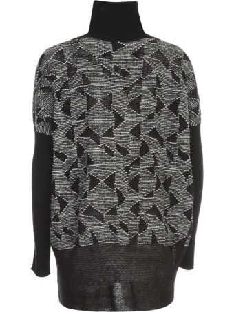 PierAntonioGaspari Long High Neck Sweater Bicolour
