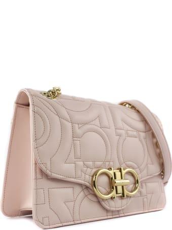 Salvatore Ferragamo Pink Quilted Shoulder Bag In