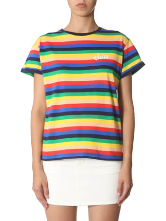 Etre Cecile Rainbow Striped T-shirt