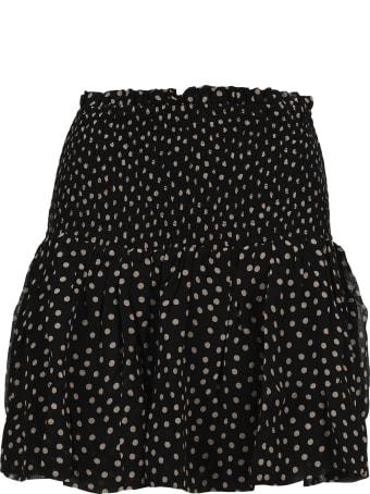 Ganni Printed Georgette Smock Skirt