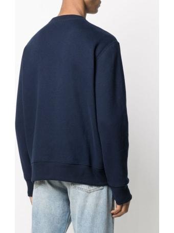 Polo Ralph Lauren Blue Jersey Sweatshirt With Teddy Bear Print