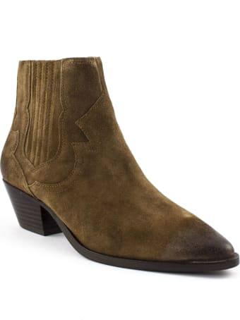 Ash Brown Falcon Ankle Boots